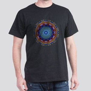 Fractal Kaleidoscope Round Dark T-Shirt