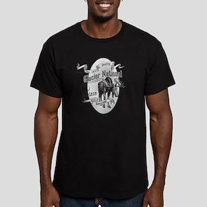 Glacier National Vinta Men's Fitted T-Shirt (dark)