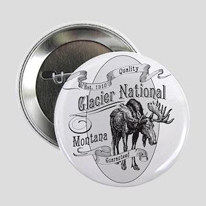 "Glacier National Vintage Moose 2.25"" Button"