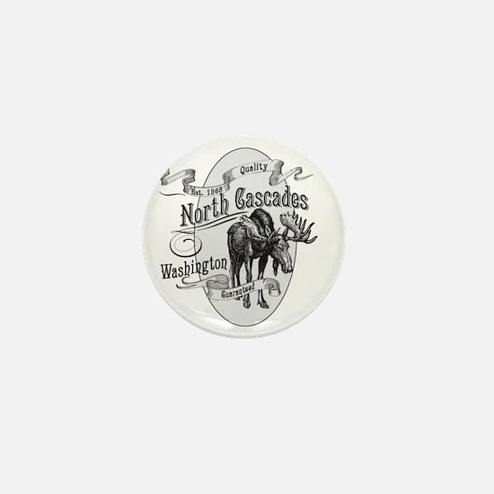 North Cascades Vintage Moose Mini Button