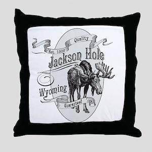 Jackson Hole Vintage Moose Throw Pillow