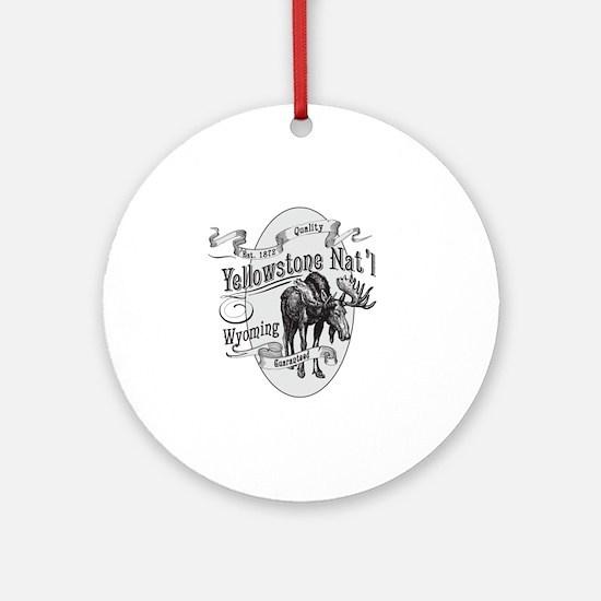 Yellowstone Vintage Moose Round Ornament