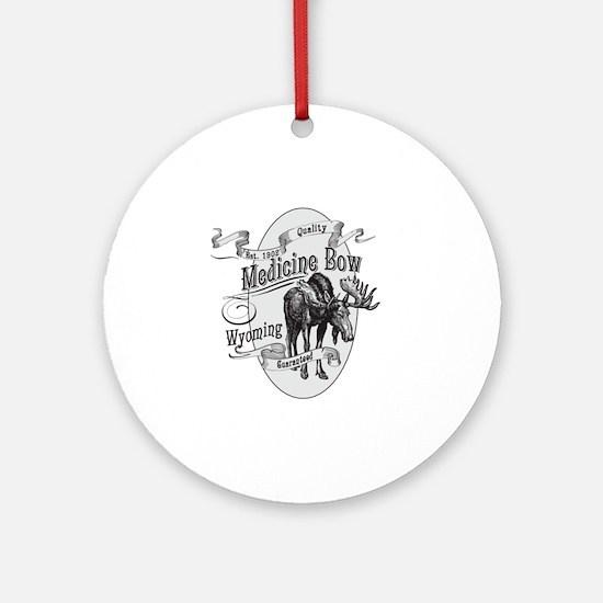 Medicine Bow Vintage Moose Round Ornament