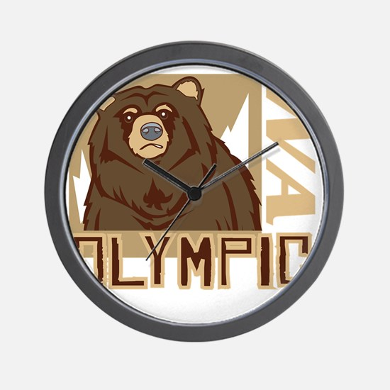Olympic Grumpy Grizzly Wall Clock