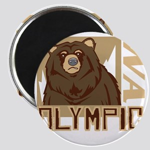 Olympic Grumpy Grizzly Magnet