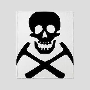 Rockhound Skull Cross Picks Throw Blanket