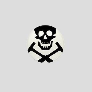 Rockhound Skull Cross Picks Mini Button