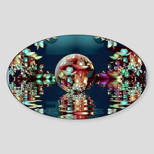 Mandelbrot Fractal Lake 2 Sticker (Oval)