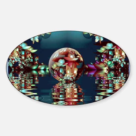Mandelbrot Fractal Lake 2 Sticker (Oval)