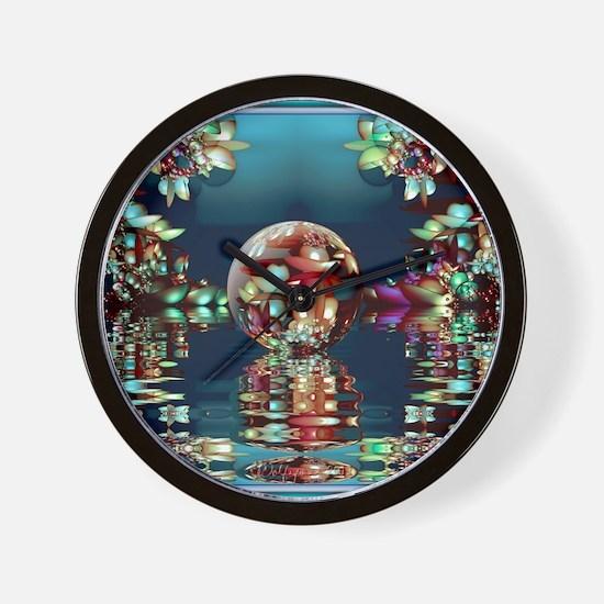 Mandelbrot Fractal Lake 2 Wall Clock