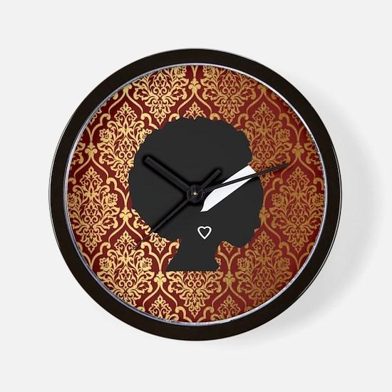 African American Woman Wall Clock