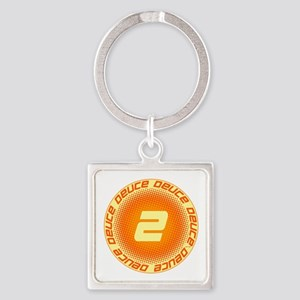 Deuce #2 Square Keychain