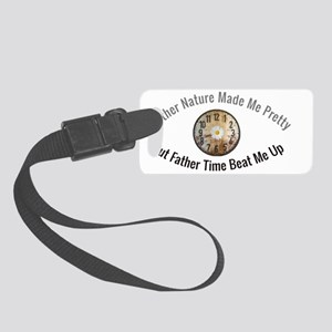 Father Time vs. Mother Nature Small Luggage Tag