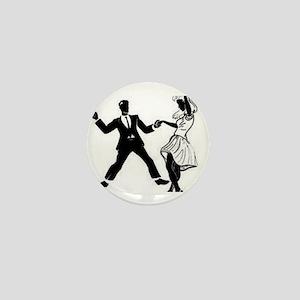 Swing Dancers Mini Button