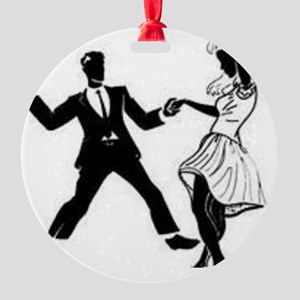 Swing Dancers Round Ornament