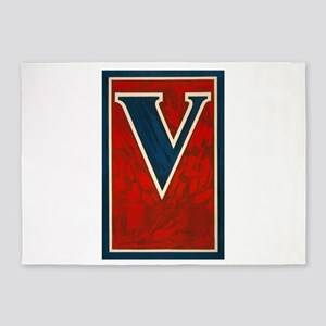 V - anonymous - 1917 - Poster 5'x7'Area Rug