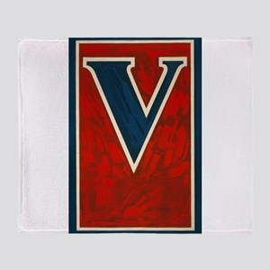 V - anonymous - 1917 - Poster Throw Blanket