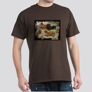 Antique Doxie Dachshund Dark Colored T-Shirt