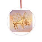 Gold Deer, Pentacle, & Gold Cernunnos #1 Ornam