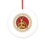 Gold Cernunnos & Spirals #9 Ornament (Round)
