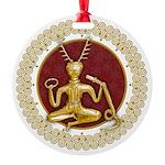 Gold Cernunnos & Spirals #4 Ornament