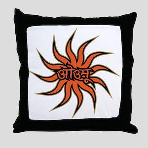 Sanskrit Aum Star Throw Pillow