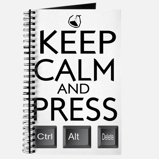 Keep Calm and press control Alt funny Journal