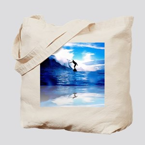 Reflections in Surfing Tote Bag