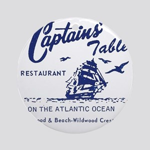 Captains Table Restaurant - Wildwoo Round Ornament