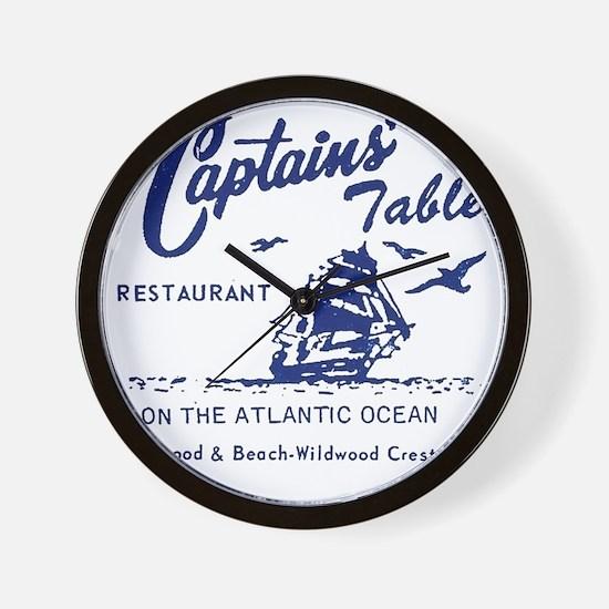 Captains Table Restaurant - Wildwood Cr Wall Clock