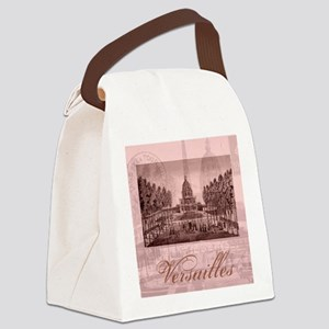 versailles shabby chic pink Canvas Lunch Bag