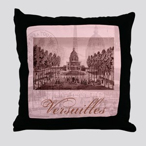 versailles shabby chic pink Throw Pillow