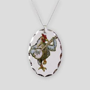 Banjo Chicken Necklace Oval Charm