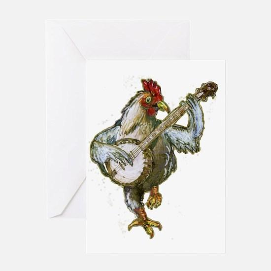 Banjo Chicken Greeting Card