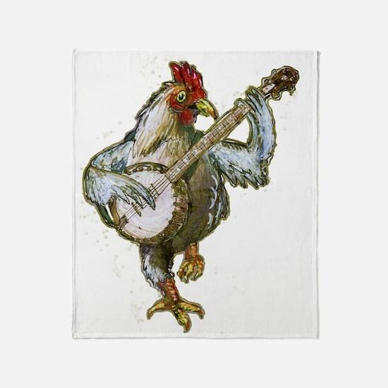 Banjo Chicken Throw Blanket
