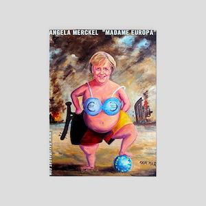 Angela Merckel 5'x7'Area Rug