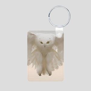 Ghost Owl Aluminum Photo Keychain