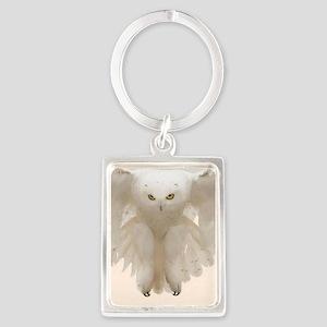 Ghost Owl Portrait Keychain