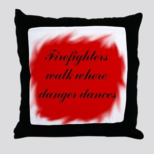 Firefighters Walk Throw Pillow