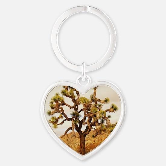 Joshua Tree Heart Keychain