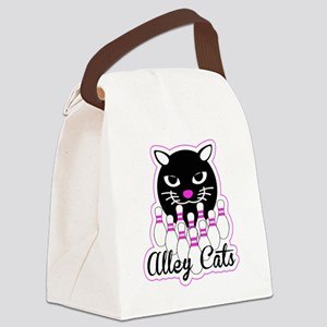 Alley Cat Bowling Canvas Lunch Bag