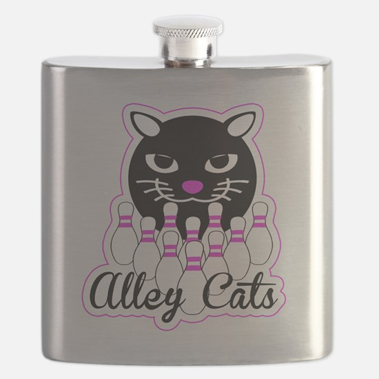 Alley Cat Bowling Flask