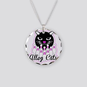 Alley Cat Bowling Necklace Circle Charm