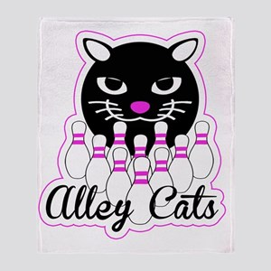 Alley Cat Bowling Throw Blanket