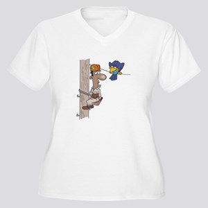 Lineman Women's Plus Size V-Neck T-Shirt