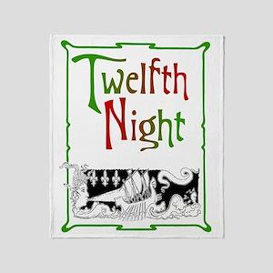 Twelfth Night Throw Blanket