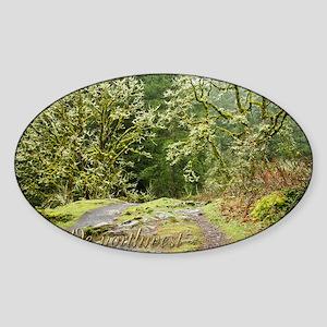 00cover-WNWtrails Sticker (Oval)