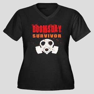 DOOMSDAY SUR Women's Plus Size Dark V-Neck T-Shirt