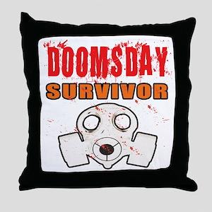 DOOMSDAY SURVIVOR Throw Pillow