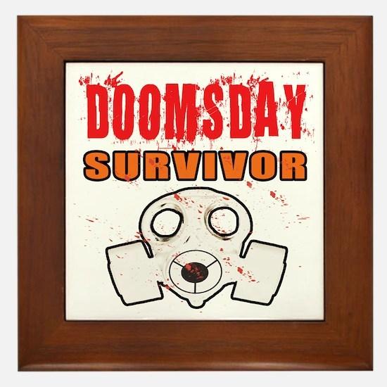 DOOMSDAY SURVIVOR Framed Tile